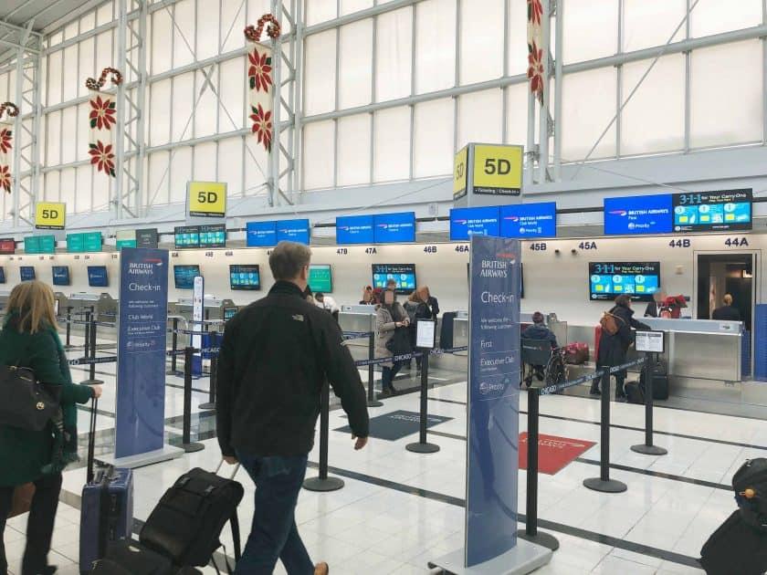 British Airways Prem Eco Bewertung Check In