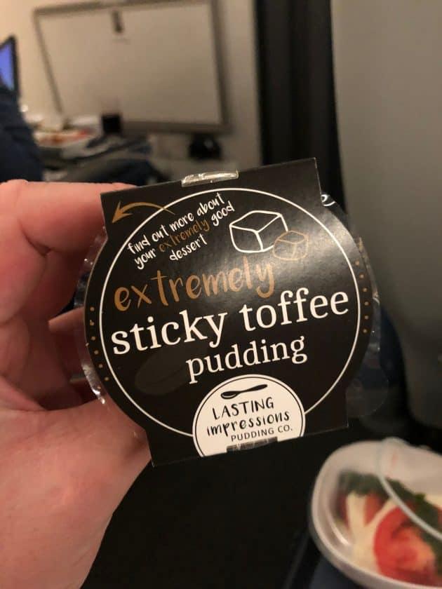 British Airways Prem Eco Bewertung Dessert