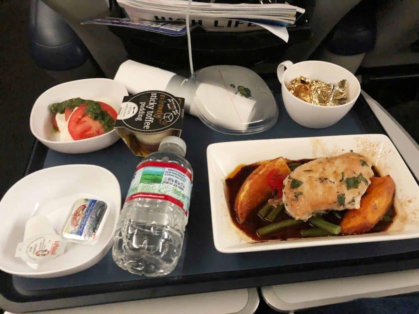 British Airways Prem Eco Bewertung Essen