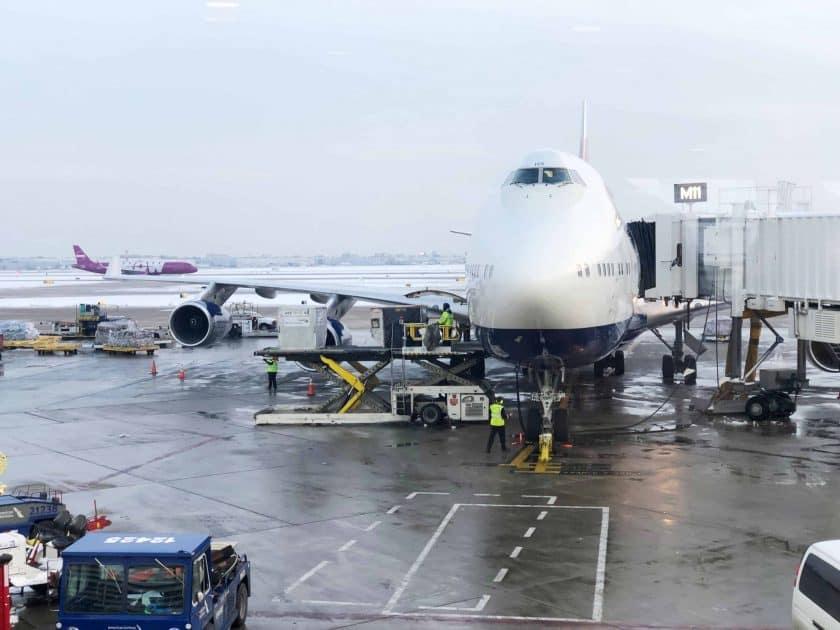 British Airways Prem Eco Bewertung Flugzeug