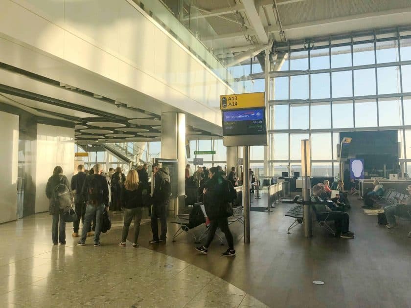 British Airways Prem Eco Bewertung London Boarding