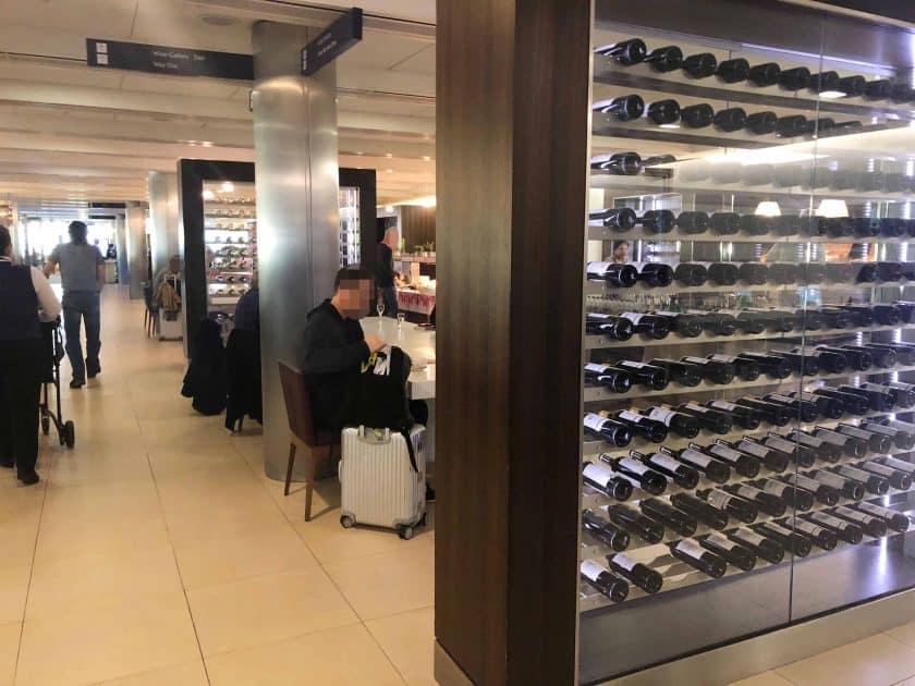 British Airways Prem Eco Bewertung London Lounge Wein