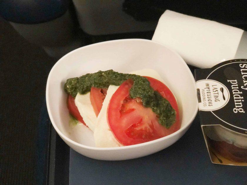 British Airways Prem Eco Bewertung Vorspeise