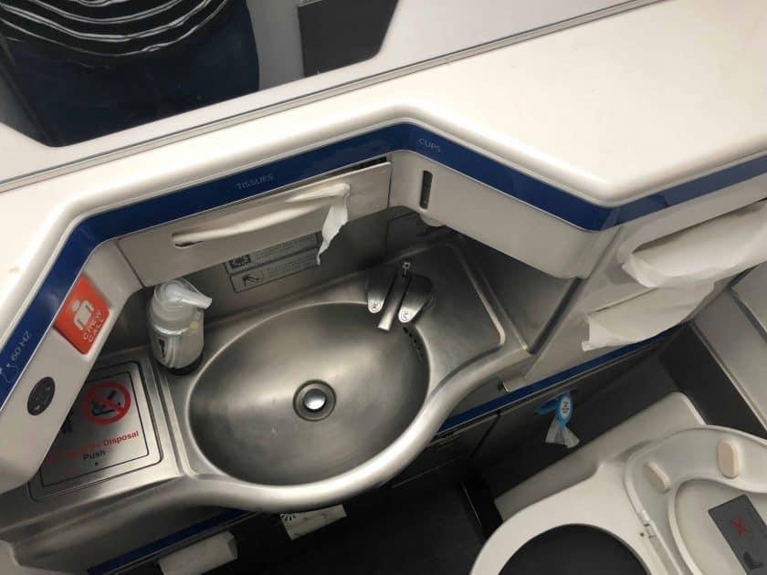 British Airways Prem Eco Bewertung WC