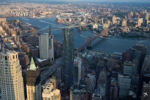 Brooklyn und Manhattan Bridge New York, USA