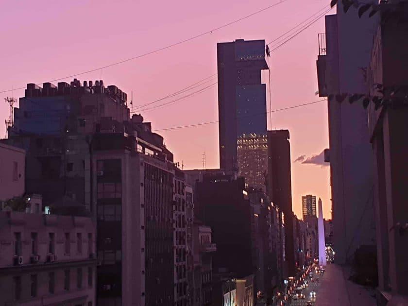 Buenos Aires Blick vom Balkon 1