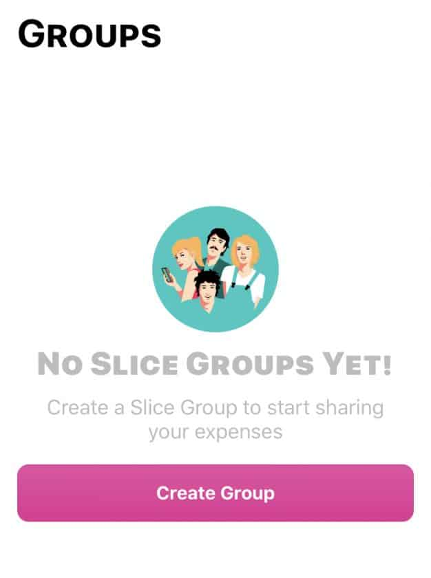 Bunq Travel Card App Slice Groups