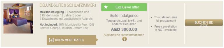 Burj Al Arab Buchung