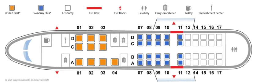 CRJ 550 Seatmap