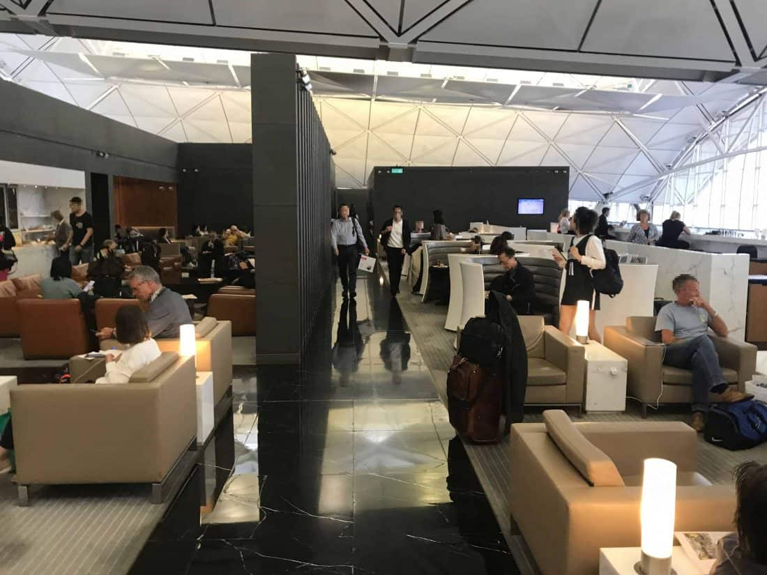Cathay Pacific Business Class Review Lounge The Wing 4