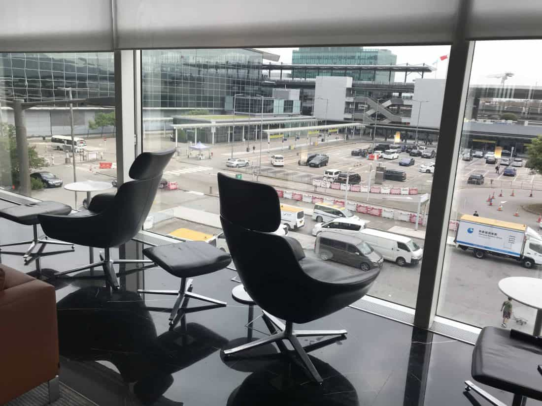 Cathay Pacific Business Class Review Lounge The Wing View 2
