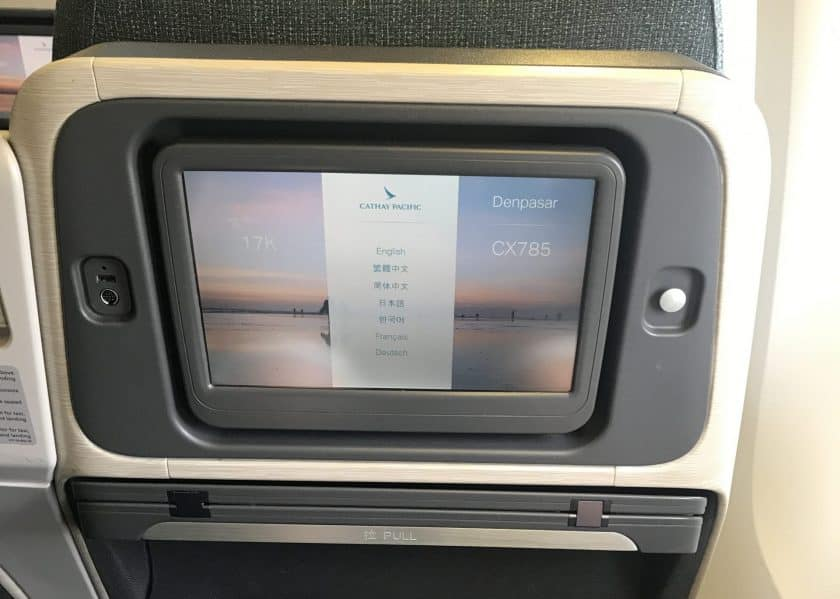 Cathay Pacific Business Class Review Screen klein scaled 1