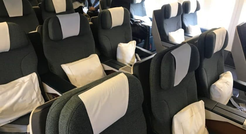 Cathay Pacific Business Class Review Seat Configuration