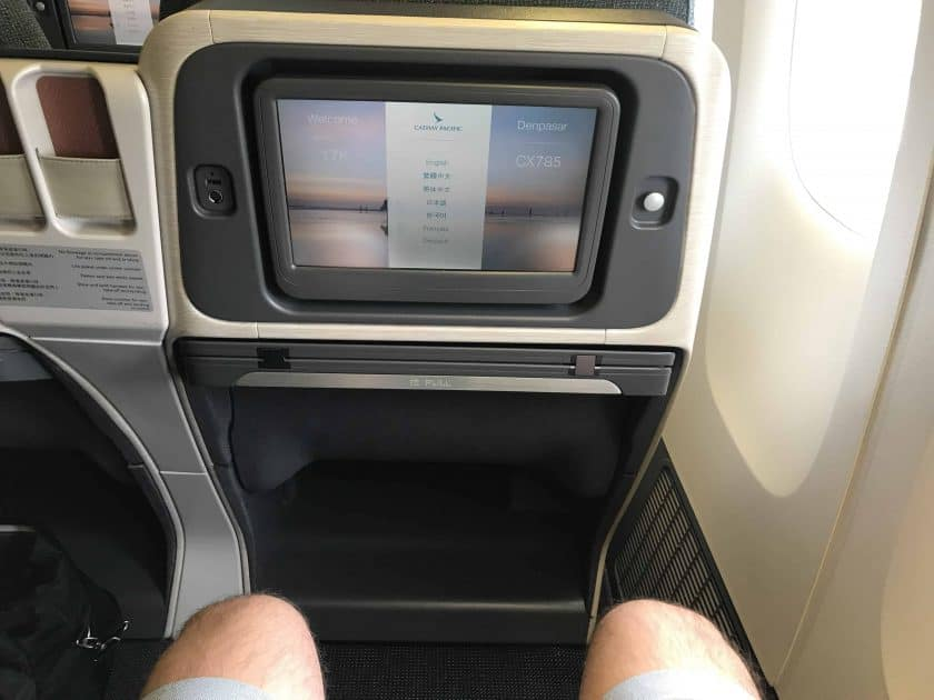 Cathay Pacific Business Class Review Seat Legroom
