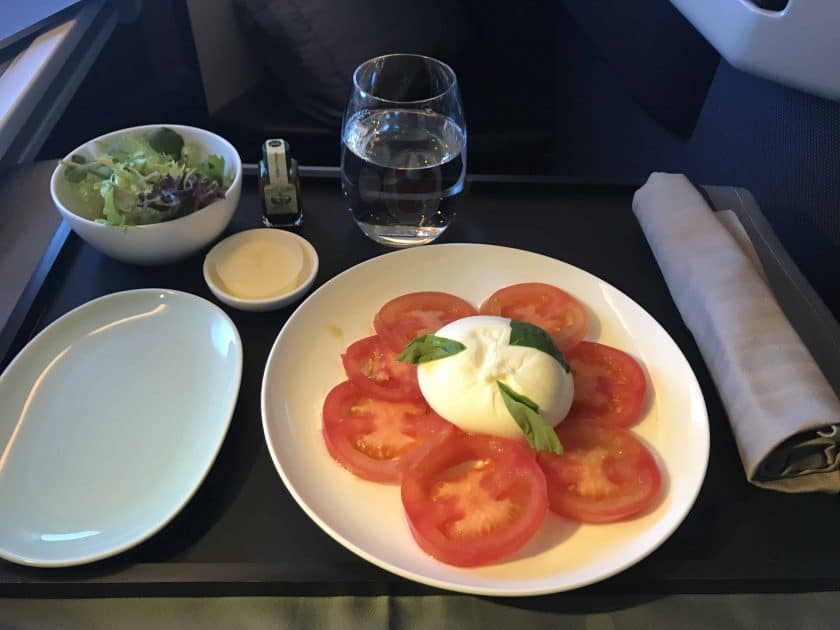 Cathay Pacific Review FRA HKG C Essen 1 3 Vorspeise