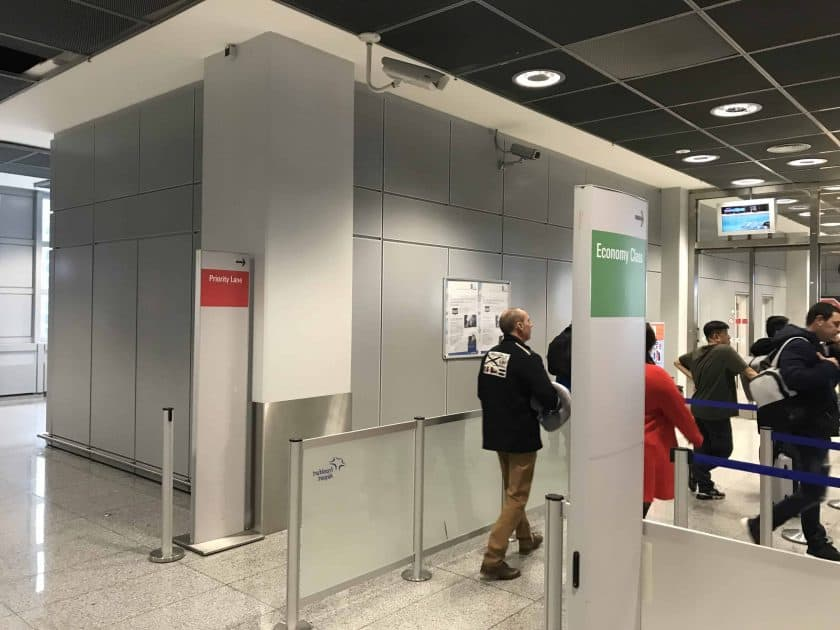 Cathay Pacific Review FRA HKG C Sicherheitscheck 1