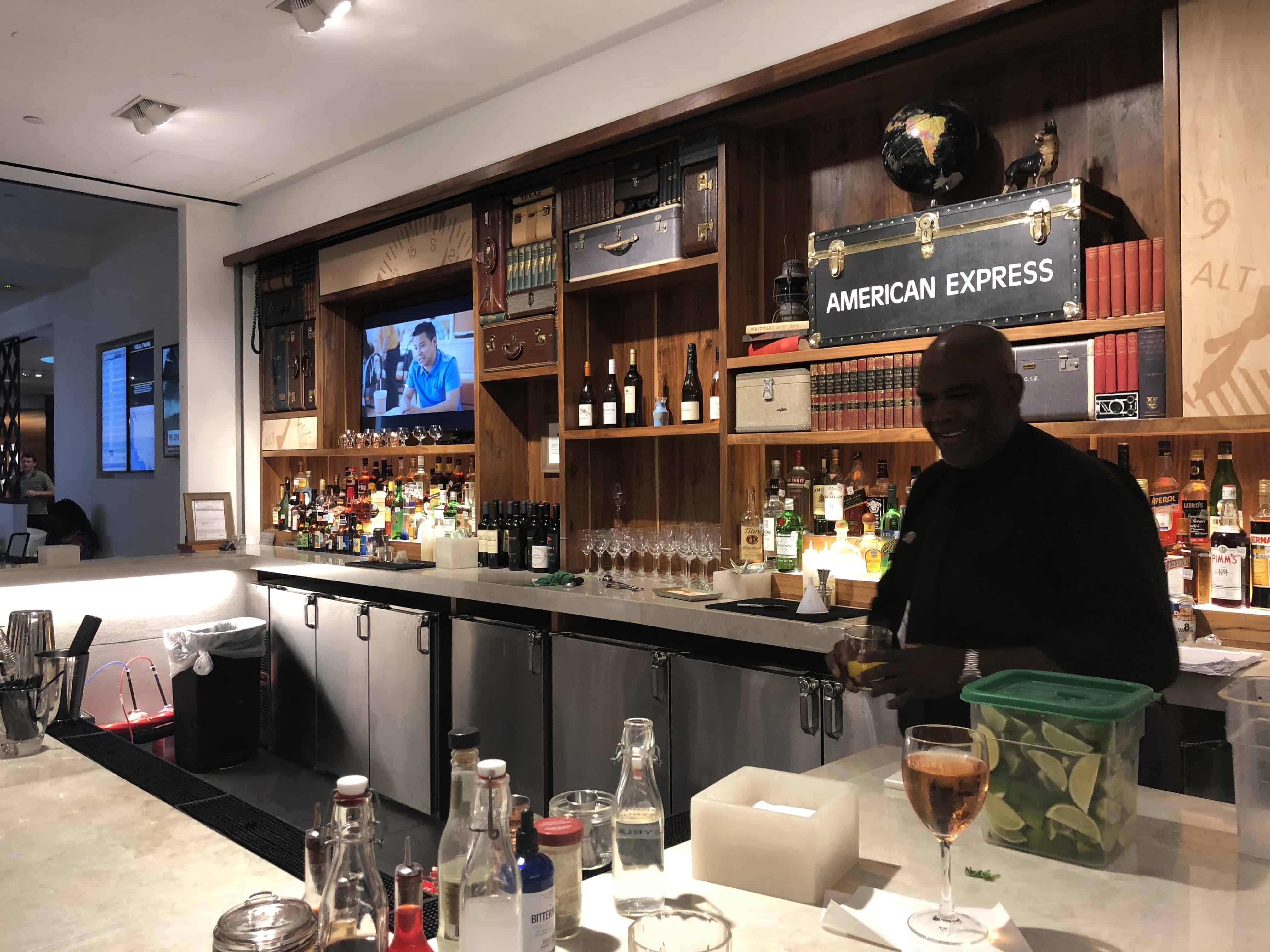 Centurion Lounge IAH Bar