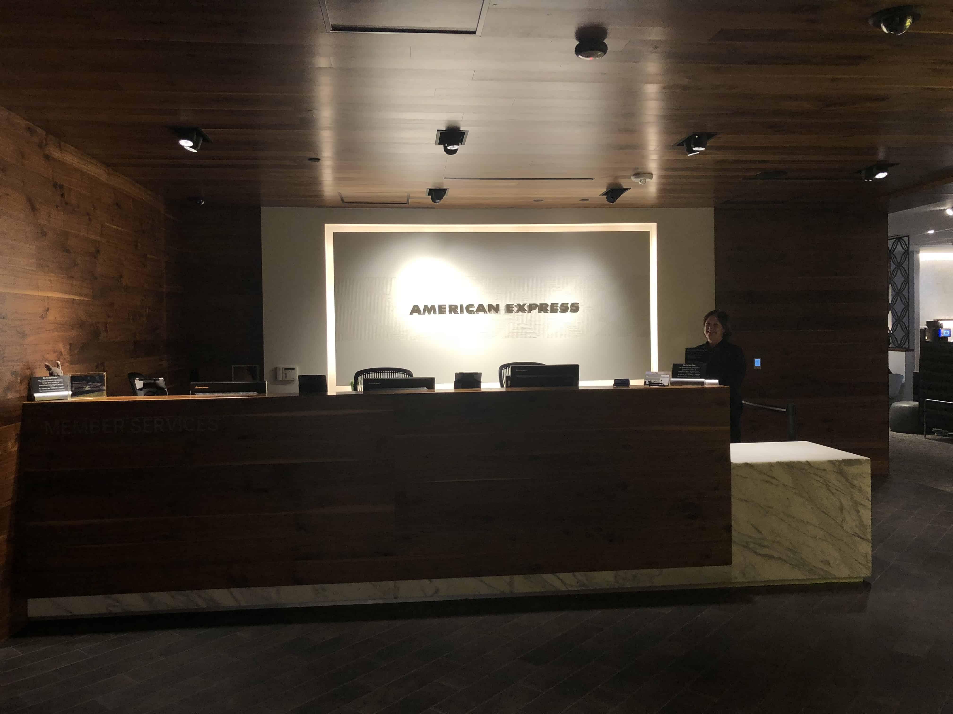Centurion Lounge IAH Eingang