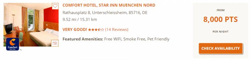 Choice Hotels Punkte einloesen