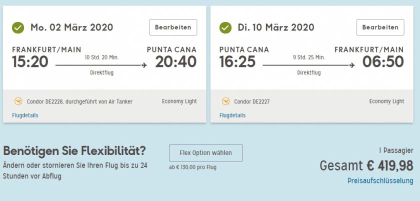 Condor FRA PUJ Travel Dealz