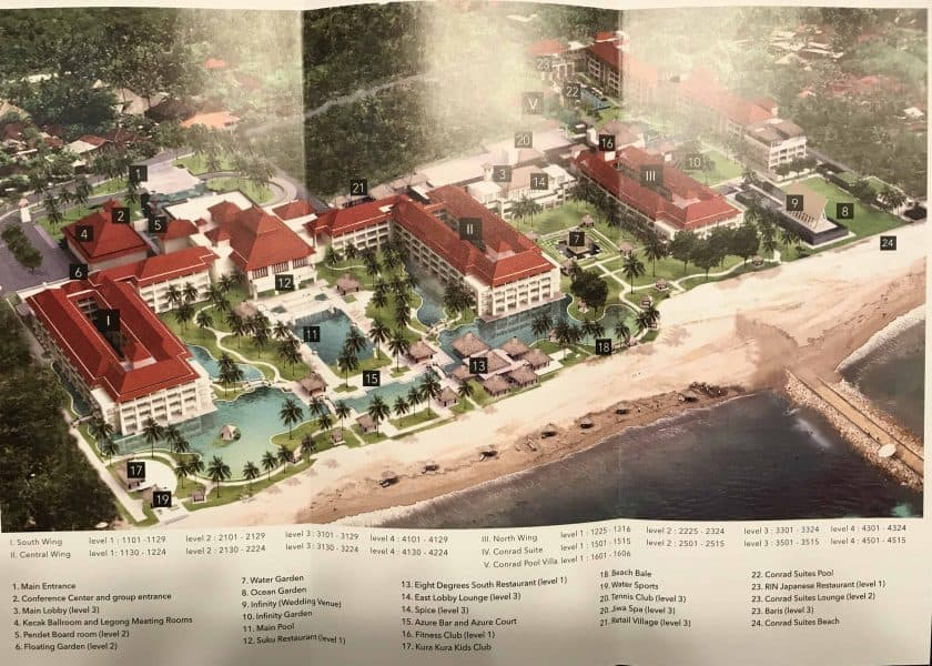 Conrad Bali Review Map