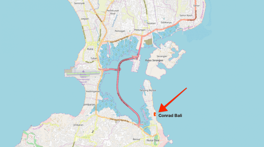Conrad Bali Review Open Street Map