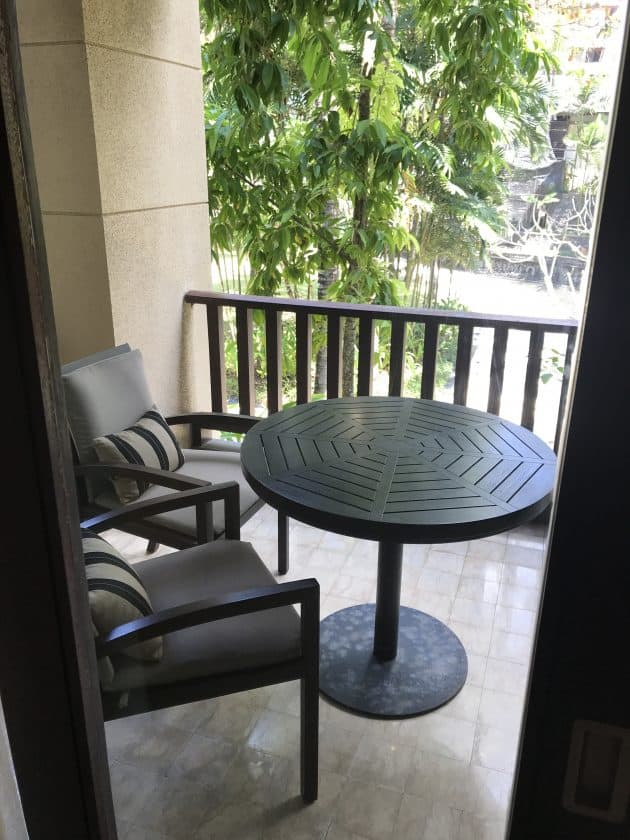 Conrad Bali Review Suite Balcony 1