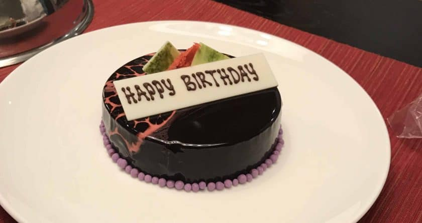 Conrad Bali Review Suite Birthday Cake