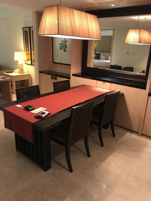 Conrad Bali Review Suite Dining Table