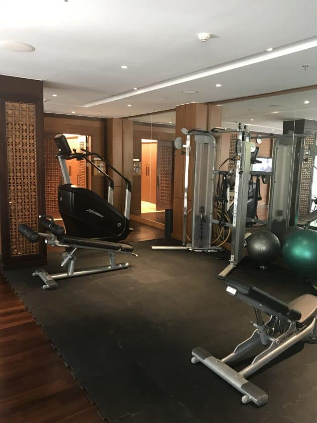 Conrad Bali Review Suite Gym 1