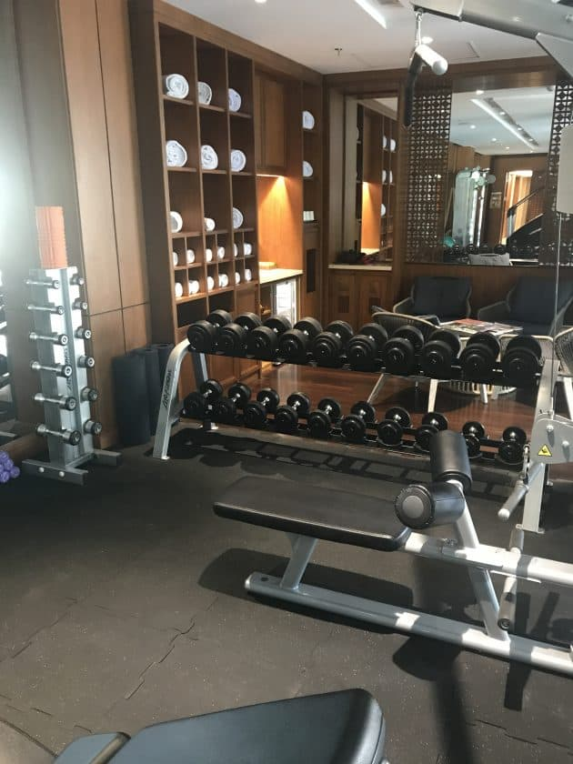 Conrad Bali Review Suite Gym 2