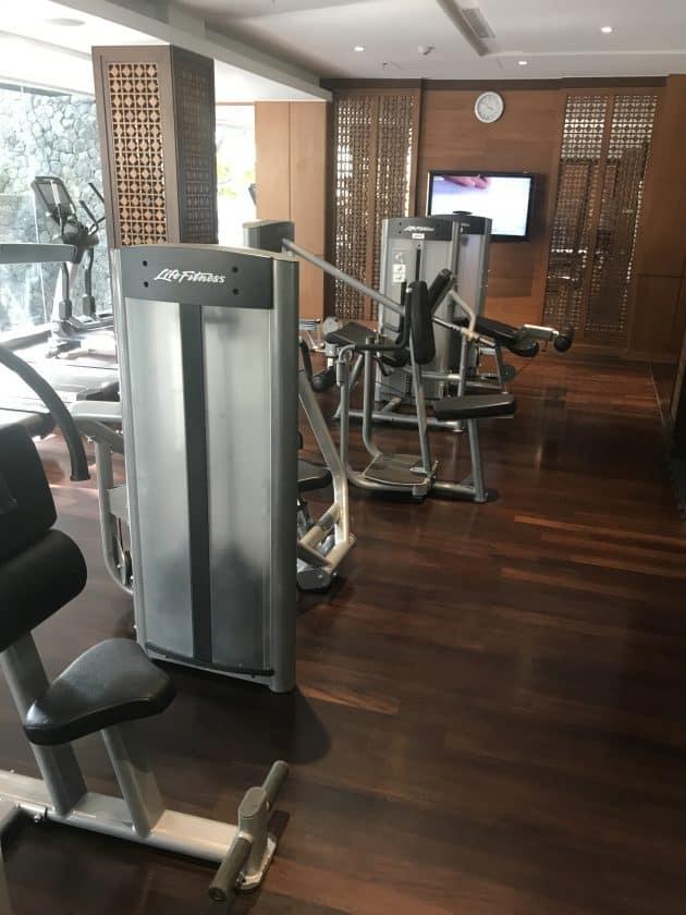 Conrad Bali Review Suite Gym 3