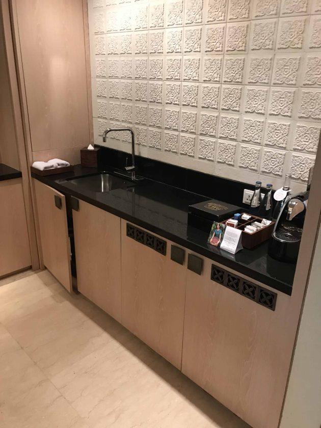 Conrad Bali Review Suite Kitchenette