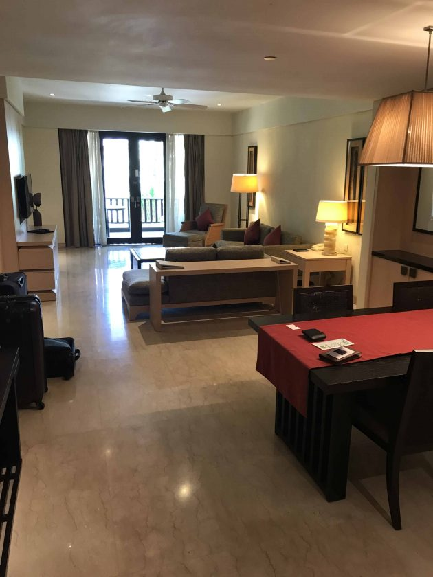 Conrad Bali Review Suite Living Room