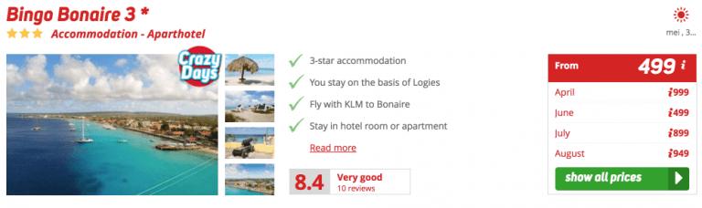 Corendon Bingo Bonaire