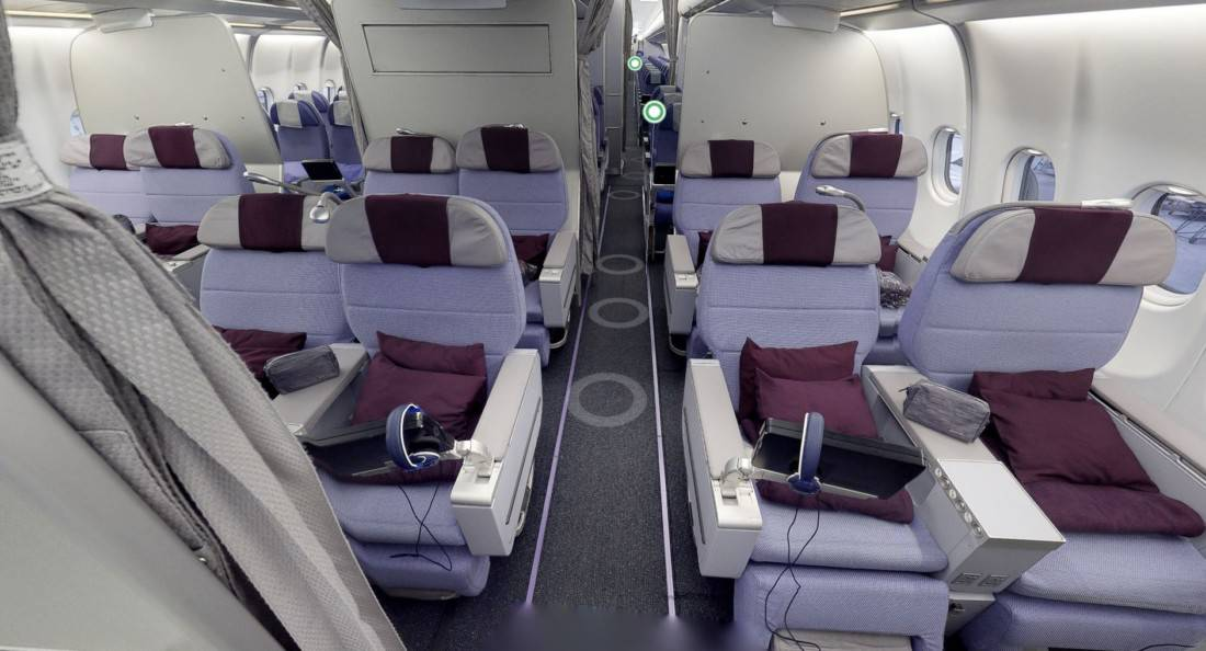 Corsair Premium Economy Sitze
