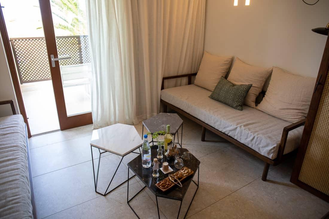 Cretan Malia Park Resort Junior Suite Sitzbereich