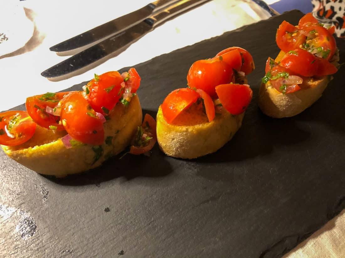Cretan Malia Park Resort Restaurant Almyra Bruschetta 1