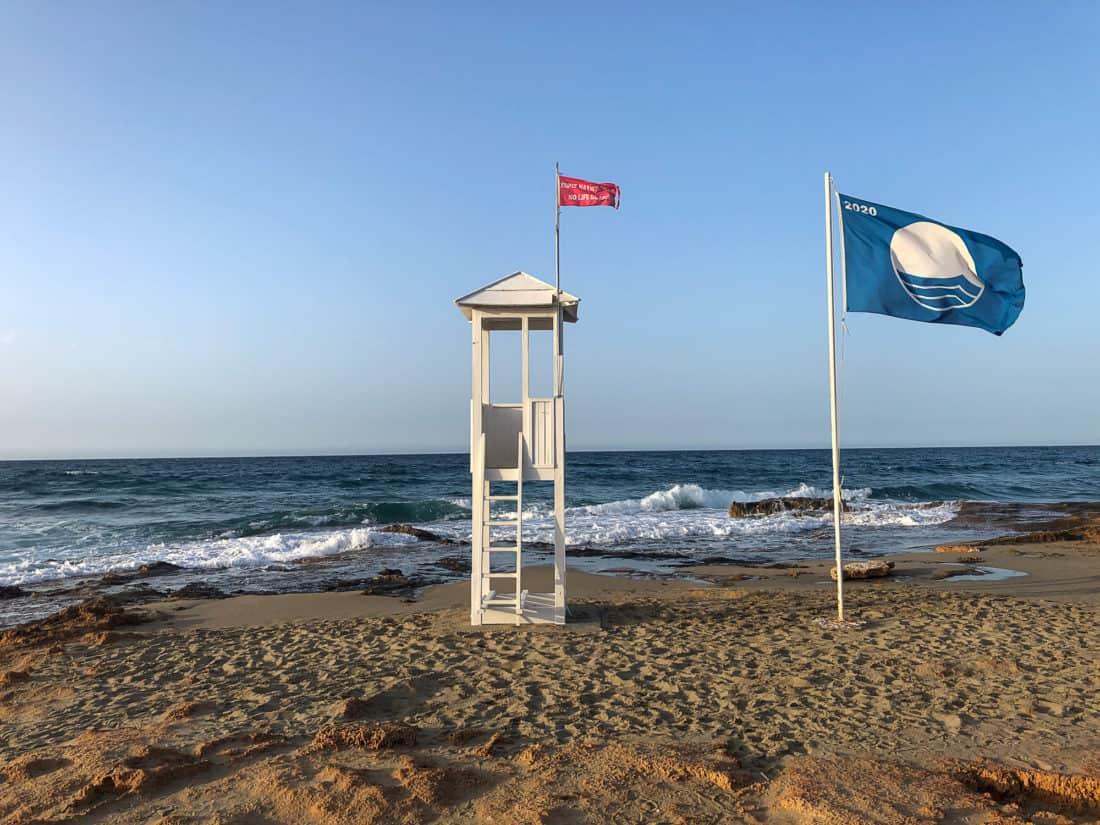 Cretan Malia Park Resort Strand Rettungsturm
