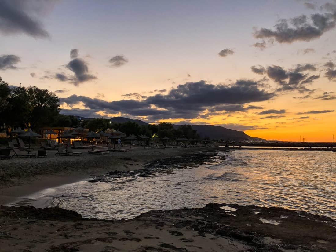 Cretan Malia Park Resort Strand Sonnenuntergang