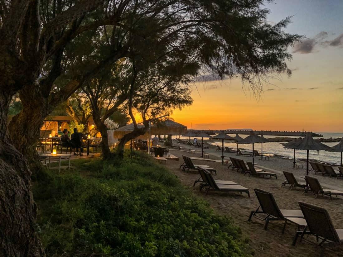 Cretan Malia Park Resort Strand Sonnenuntergang 2