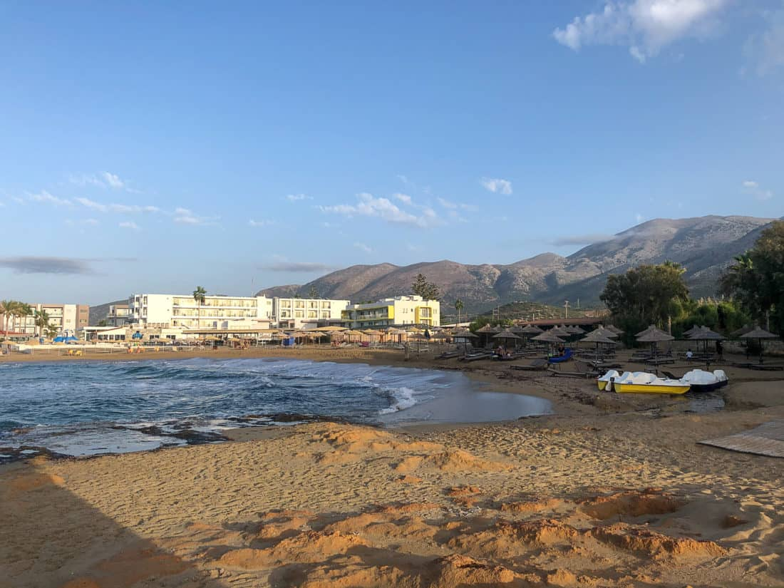 Cretan Malia Park Resort Strand rechts