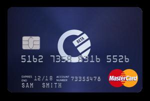 Curve Blue Kreditkarte