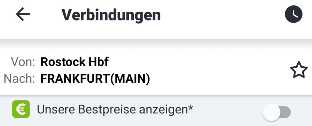 DB Navigator Bestpreissuche
