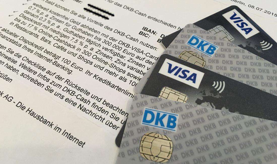 DKB-Cash Willkommensschreiben