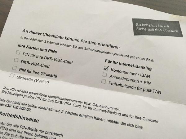 DKB Checkliste