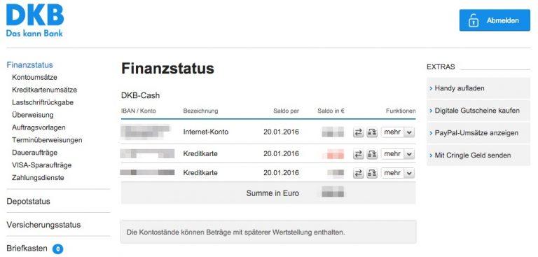 DKB Finanzstatus