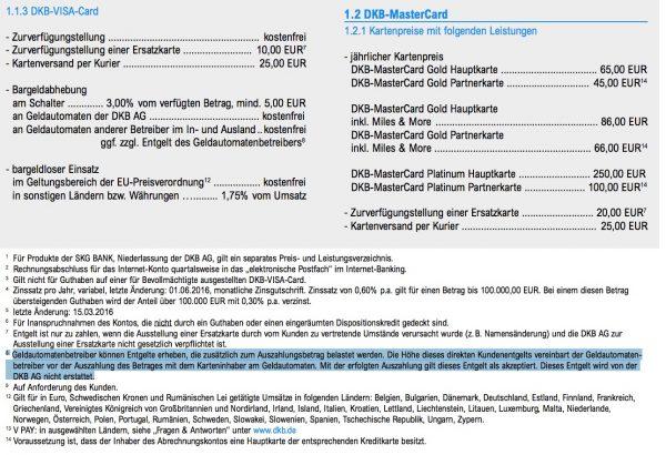 DKB Geltautomatenbetreiber keine Fremdgebuehrenerstattung