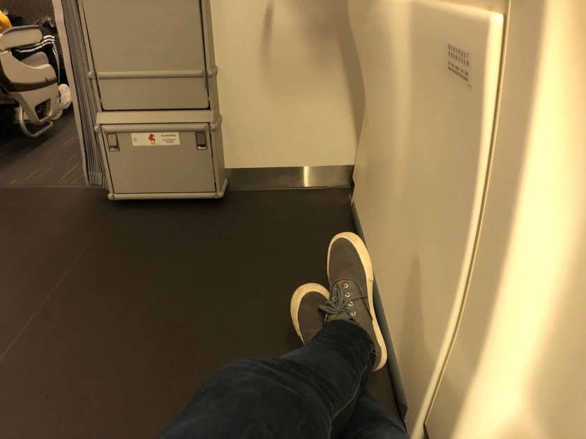 EVA Air Bewertung Beinfreiheit