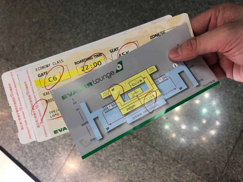 EVA Air Bewertung Bordkarte